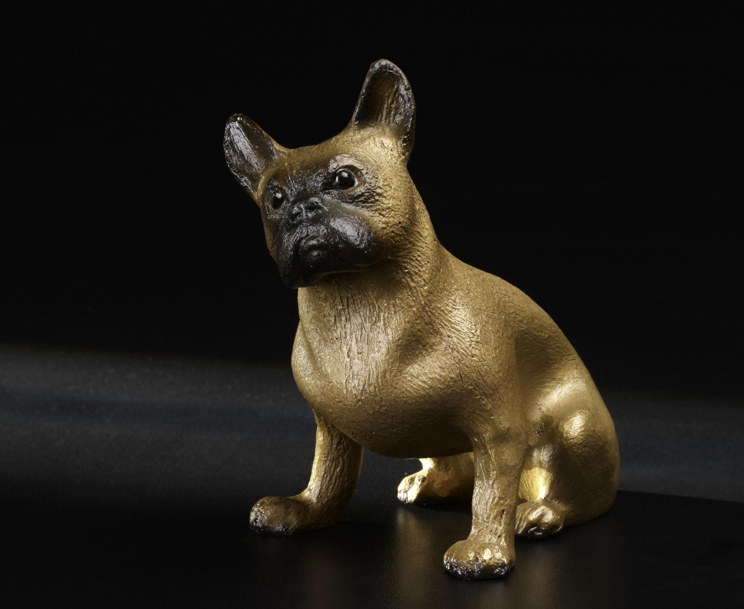 franz sische bulldogge bronze kunstwerkst tte. Black Bedroom Furniture Sets. Home Design Ideas