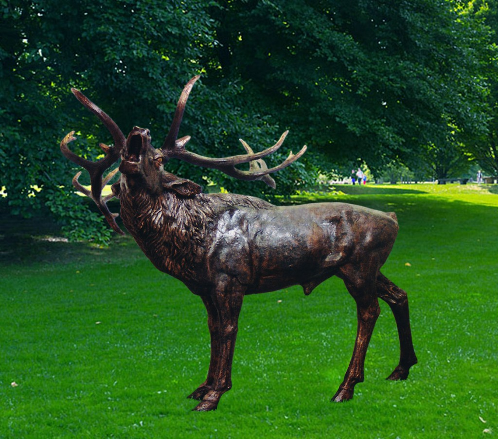 Hirsch im Park